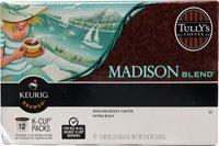 Tully'S Coffee Madison Blend Medium Roast -- 12 K-Cups
