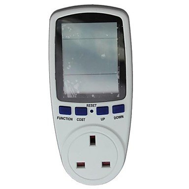 Uk Plug In Energy Meter Electricity Monitor Energy Saving Meter,Power Meter , White