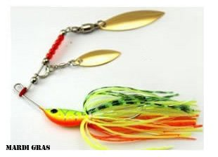 MARDI GRAS SPIN BAIT multi coloured fishing lure spinner for pike, perch, zander, mackerel and bass. 100mm / 20g (0.5oz) from FISHIN ADDICT