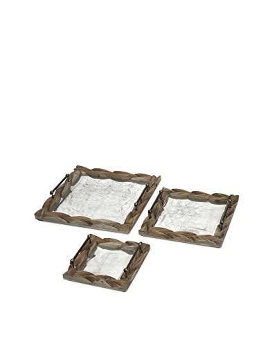 Set of 3 Santiago Wooden Trays