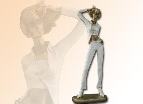 Scultura moderna donne in oro-crema ottica