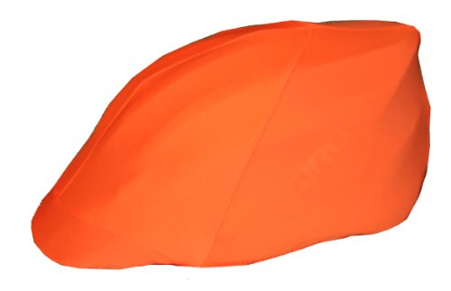 Safety Orange Bicycle Helmet Cover (Cycling Helmet Cover compare prices)