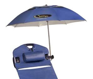 LoungePac Umbrella w/ 360 Degree Patented Mount attaches to LoungePac
