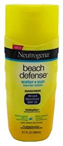 Neutrogena Beach Defense Sunscreen Lotion with Broad Spectrum SPF 70 Protection, 6.7 Ounce