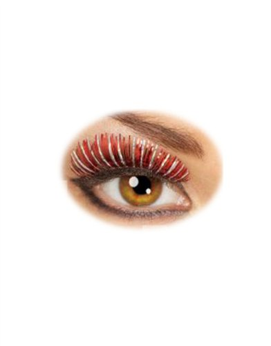 Rubie's Costume Co Sm Hologram Lashes-Red/Silver Costume
