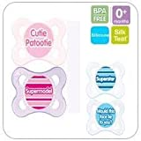 MAM CUTE ORTHODONTIC SOOTHER BOYS TWINPACK 0M+ BPA FREE