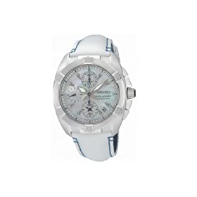 Seiko Velatura Diamond Alarm Chronograph Ladies Watch SNDZ41