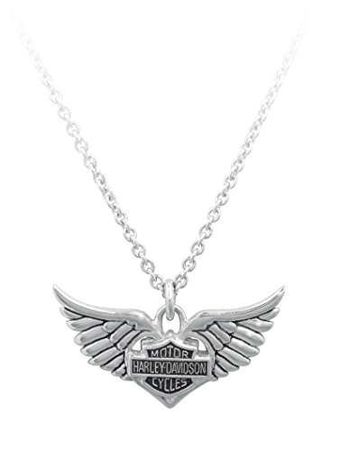 Harley-Davidson® MOD® Women's Winged Heart Necklace HDN0213