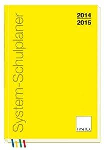 TimeTex System-Schulplaner A5-Plus Gelb - Schuljahr 2014 - 2015 - Lehrerkalender - 10760