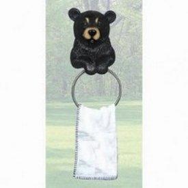 Black Bear Towel Holder - Bear Decor