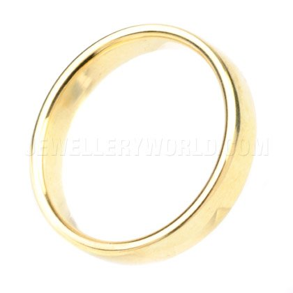 4mm 18ct Gold Soft Court Wedding Ring