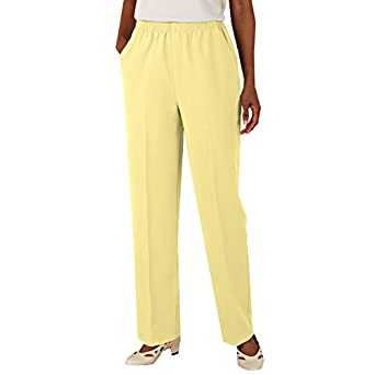 Blair women 39 s plus size no iron poplin pants at amazon women s clothing store - How to unwrinkle your clothes with no iron ...