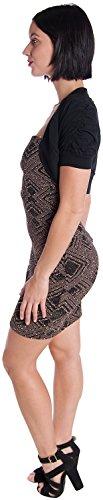 Ambiance Apparel Women's Bolero Shrug Cardigan, Dark Black, Medium