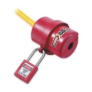 Electric Plug Lockout, Small, Red