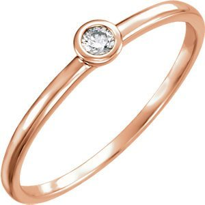 14kt Rose .06 CTW Diamond Ring