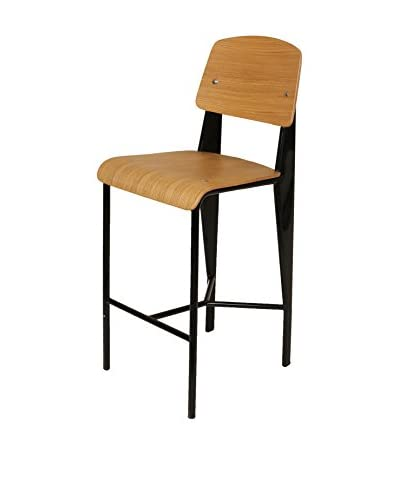 Stilnovo Jean Bar Stool, Black/Wood