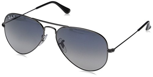 Ray-Ban Sunglasses - RB3025 Aviator Large Metal / Frame: Gunmetal Lens: Polarized Blue to Gray Gradient (55mm)