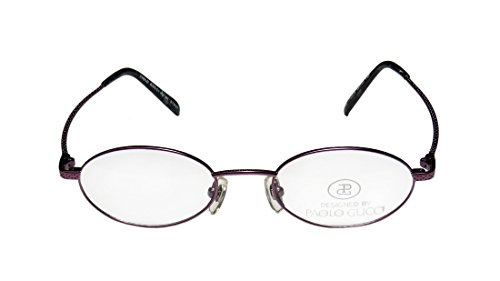 New & Season & Genuine - Brand: Paolo Gucci Style/model: 7442r Gender: Mens/Womens Prescription Ready Affordable Oval Full-rim Eyeglasses/Eyewear (48-20-140, Purple) (Gucci Hair Brush compare prices)