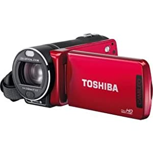 Toshiba Camileo X400 Red Full HD Camcorder 5Mp 1080p ?23 x optical zoom SD, SDHC and SDXC memory card 3in LCD