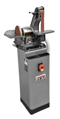 Jet 577014K J-41002 Benchtop Belt & Disc Sander with Dust Collection Stand (Bench Grinder Dust Collector compare prices)