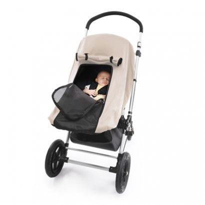 Outlook Universal Stroller Sleep Shade - Universal Stroller Sleep Pod - Stone Colored