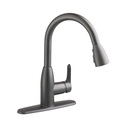 Cyber Monday Deals American Standard 4175.300.242 Colony Soft Pull-Down Kitchen Faucet, Matte Black