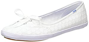 Keds Women's Teacup Eyelet Fashion Sneaker, White, 8.5 M US