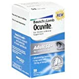 Bausch & Lomb Ocuvite Eye Vitamin & Mineral Supplement for Adults over 50, 50-Count Soft Gels