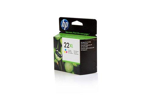 Original XL Tinte passend für HP DeskJet D 2360 HP 22XL , NO 22 XL , Nr 22C 9352 CE , C9352CE , C9352CEABB , C9352CEABD , C9352CEABE , C9352CEABF - Premium Drucker-Patrone - Cyan, Magenta, Gelb - 415 Seiten - 11 ml