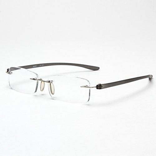 老眼鏡 おしゃれ メンズ リーディンググラス(M-303)軽量で快適な掛け心地 (+3.00, ブラック)