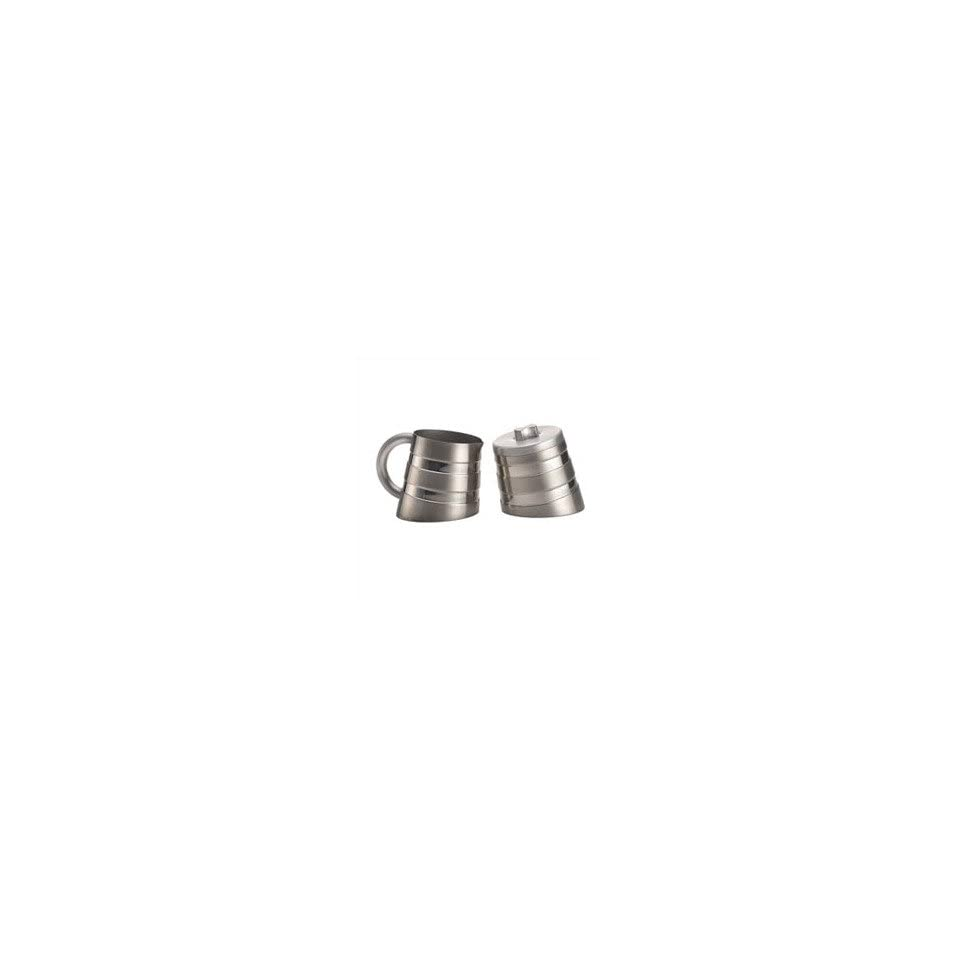 Steel Double Wall Creamer and Sugar Set
