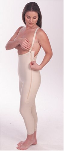 Marena Support Girdle with Suspenders and Medium Legs (F5 Certified Compression Garment)