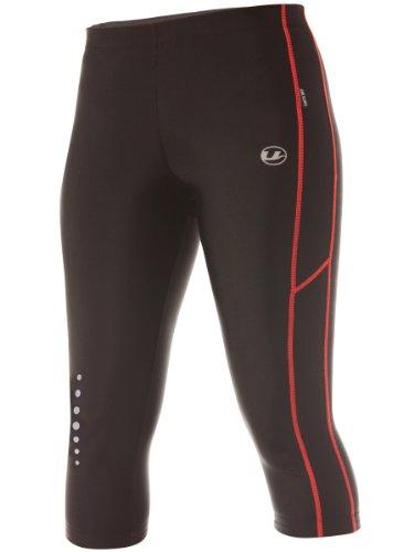 Ultrasport Pantaloni Jogging per Donna con Funzione Quick Dry, 3/4 Lunghezza, Nero/Dubarry, M