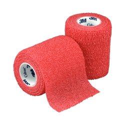 Coban Self-Adhesive Wrap, Red, 3