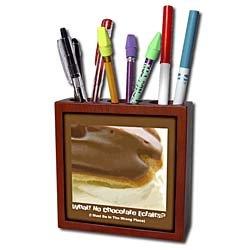 Susan Brown Designs Dessert Themes - Chocolate Éclair - Tile Pen Holders-5 inch tile pen holder