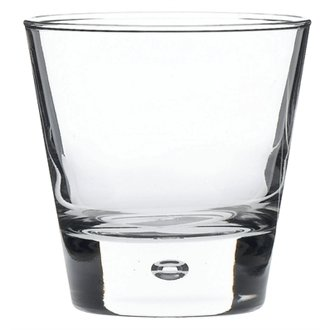 Winware Norway Whisky Glasses (A contemporary whisky glass characterised by its unique shape and air bubble in the base. Ideal for use in hotels, restaurants, and modern bars)