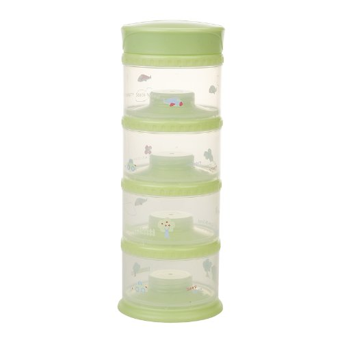 Innobaby Packin' Smart Four Tier Stack N Seal Food Storage System, Green front-3110
