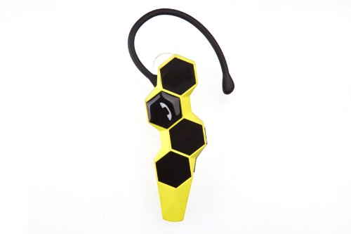Granvela Honeycomb Wireless Bluetooth 4.0 Headset Bluetooth Nfc With Clear Voice Capture And Echo Cancellation For Iphone 5S 5C 5 4S, Galaxy Note 3 2 S4 S3 And Other Bluetooth Cellphones - Retail Packaging[Yellow]