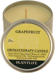 Grapefruit Aromatherapy Candle- Made with 100% Pure Essential Oils - 3oz Tin