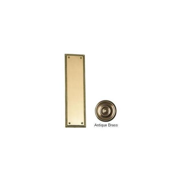 Brass Accents A06 P0240 609 Academy Antique Brass Push Plate Door Plat  Door Kick Plates  Patio, Lawn & Garden