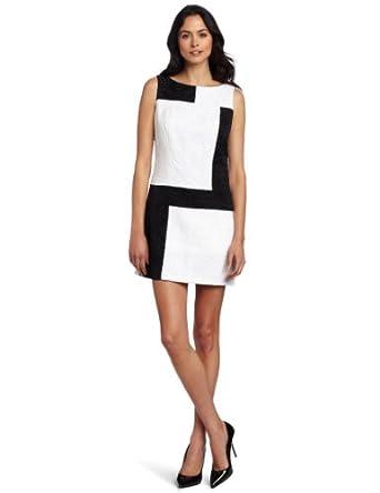 Jax Women's Jacquard Dress, Snow/Black, 2