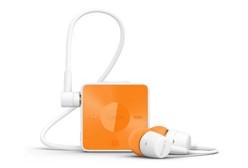 Sony Sbh20 Smart Wireless Nfc Bluetooth 3.0 In-Ear Headphones Stereo Headset Earbuds (Orange)