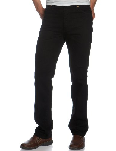 Wrangler Men's Cowboy Cut Slim Fit Jean, Shadow Black Denim, 29x36