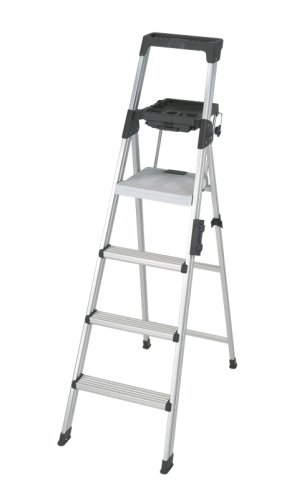 Cosco - Six-Foot Lightweight Aluminum Folding Step Ladder W/Leg Lock & Handle, 300Lb 2061Aabld (Dmi Ea back-981167