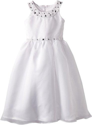Us Angels Girls 2-6X The Jewel Dress 6-6X, White, 6