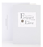 Engaged Jewel Ring Engagement Card