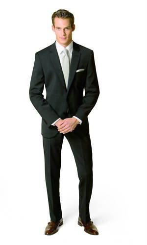 Men`s Suit Lanificio Tessile D'Oro black 98 (40 Long)
