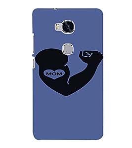 PrintVisa I love Mom 3D Hard Polycarbonate Designer Back Case Cover for Huawei Honor 5X