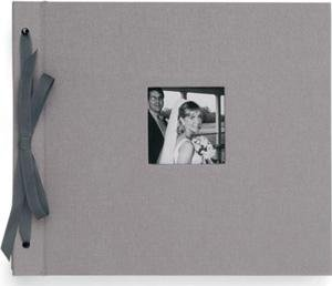 'Newbury' Platinum/black tied cloth scrapbook type album 8¾x10¼ by Kolo - 8x10