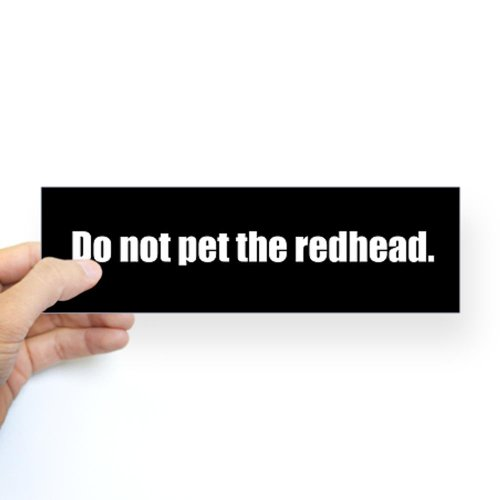 cafepress-do-not-pet-the-redhead-bumpersticker-10x3-rectangle-bumper-sticker-car-decal
